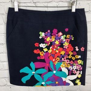 Trina Turk Floral Mini Skirt Multicolor size 2